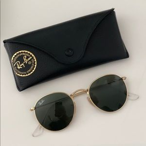 Ray an Round Metal Sunglasses